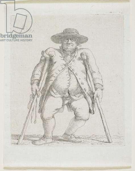 "Man with Crutches; ""Orlandini"", 1787"