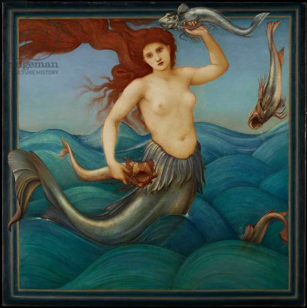 A Sea-Nymph, 1881 (oil on canvas)
