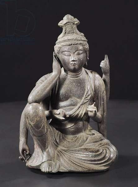 Nyoirin Kannon, Kamakura Period (bronze)