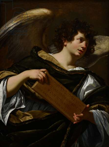 Angels with Attributes of the Passion, the Superscription from the Cross, c.1624 (oil on canvas)