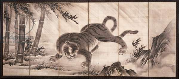 Tiger [left of the pair Dragon and Tiger], mid 16th century (ink on paper) (see also 6114494)