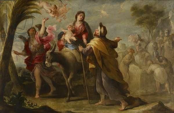 The Flight into Egypt, 1669 (oil on canvas)