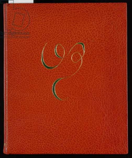 Fleurs du mal, front cover, 1947 (gilt leather)