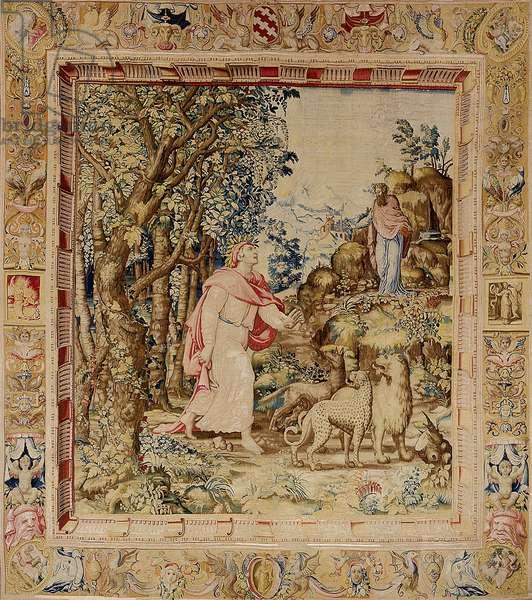The Meeting of Dante and Virgil (wool & silk)