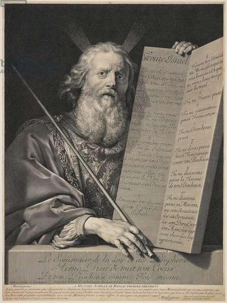 Moses Presenting the Ten Commandments, 1699