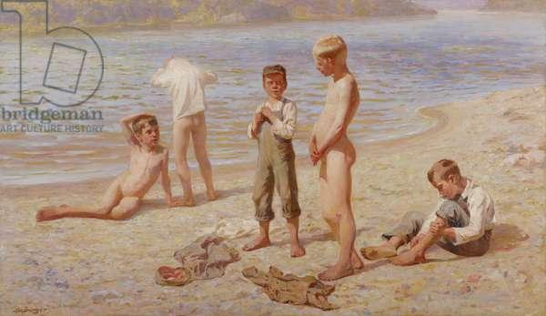 Boys Bathing, 1894 (oil on canvas)