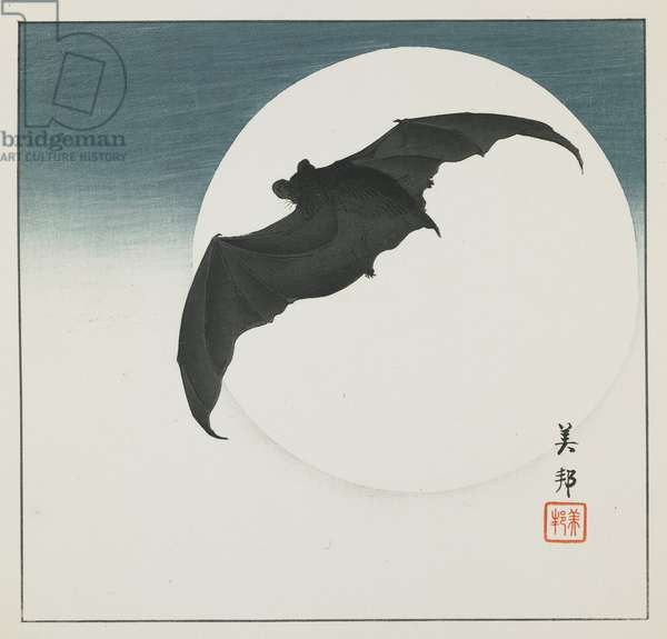 Bat and Moon, early 20th century