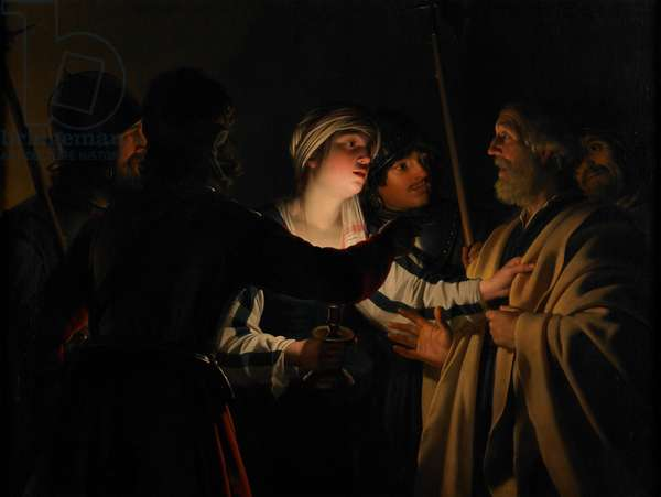 The Denial of St. Peter, c.1623 (oil on canvas)