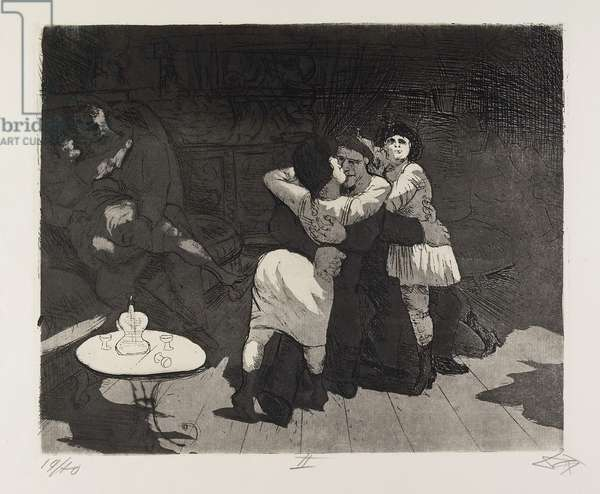 Matrosen in Antwerpen (Sailors in Antwerp), plate 32 from Der Krieg (The War), 1924
