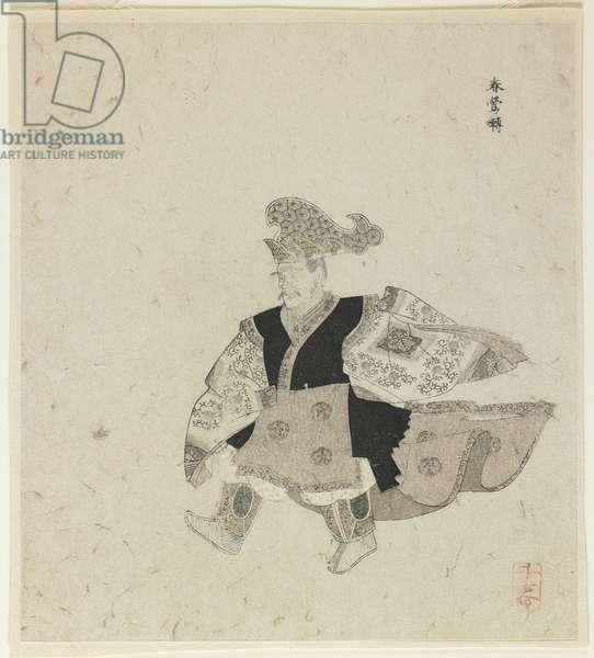 "Imperial Court Dance ""Shunnōden"", 18th century (colour woodblock print)"