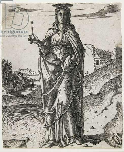 Saint Lucy, c.1510 (engraving)
