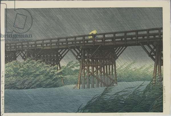 Evening Shower on Imai Bridge, August 1932