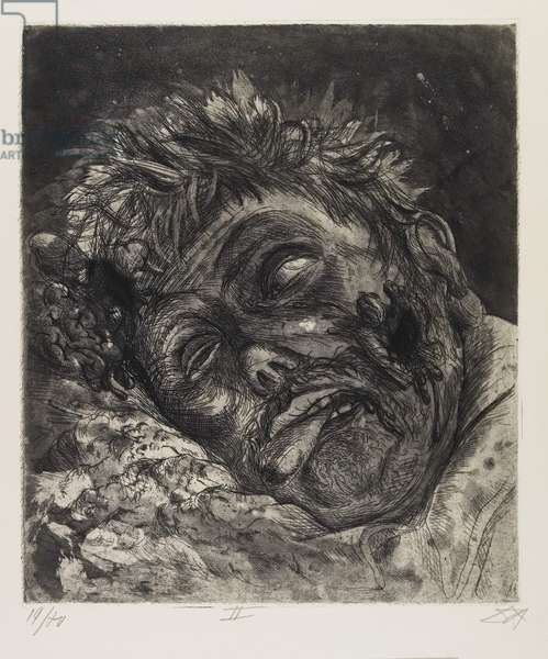 Toter (St. Clément) (Dead Man [St. Clément]), plate 42 from Der Krieg (The War), 1924
