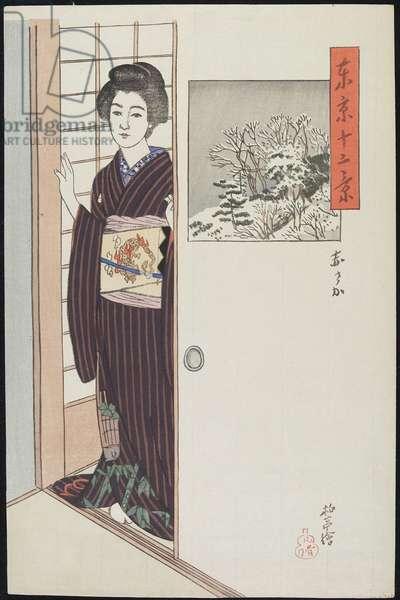 Akasaka, c. 1914-16 (colour woodblock print)
