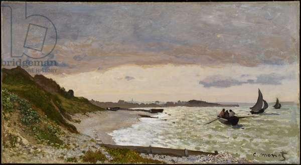 The Seashore at Sainte-Adresse, 1864 (oil on canvas)