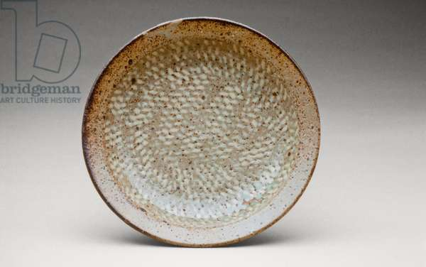Plate (glazed stoneware with inlaid slip decor)
