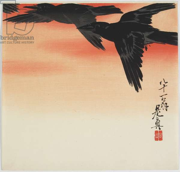 Crows Flying at Sunset, c. 1888