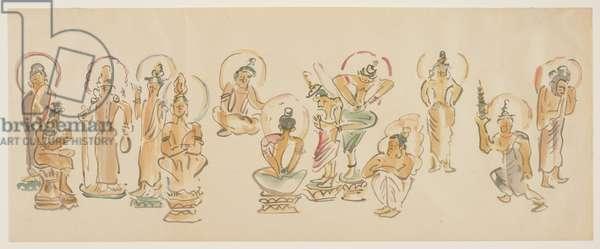 (Asakusa Kannon temple caricatures C), c. 1900