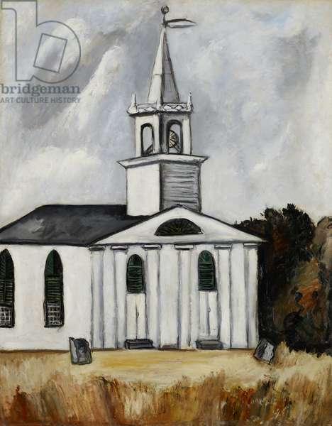 Church at Head Tide #2, 1938-40 (oil on academy board)