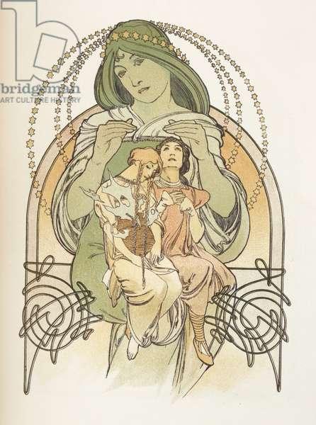Illustration from 'Ilsee, Princess de Tripoli', 1897 (colour litho)