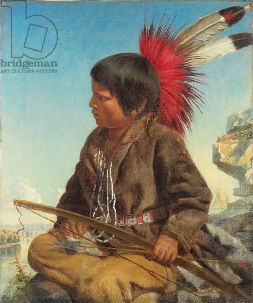 Indian Boy at Fort Snelling, 1862 (oil on canvas)