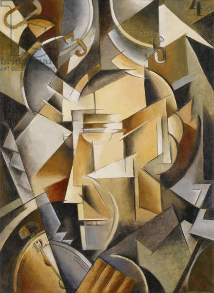 The Clockmaker, c.1914 (oil on canvas)