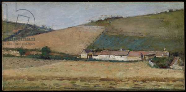 A Farm Among Hills, Giverny, c.1887 (oil on canvas)