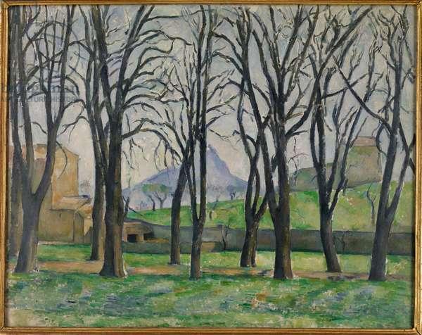 Chestnut Trees at Jas de Bouffan, c.1885-86 (oil on canvas)