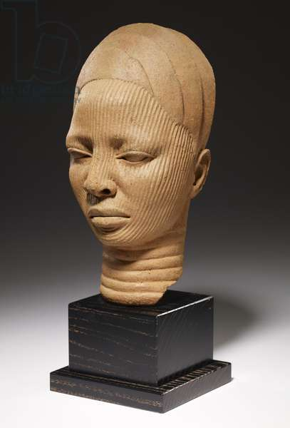 Shrine Head, Yoruba Culture, Nigeria (terracotta)