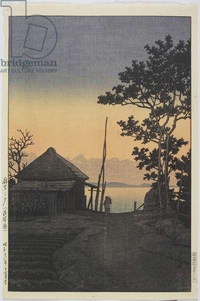 Evening at Aso_ in Ibaraki Prefecture, December 1937