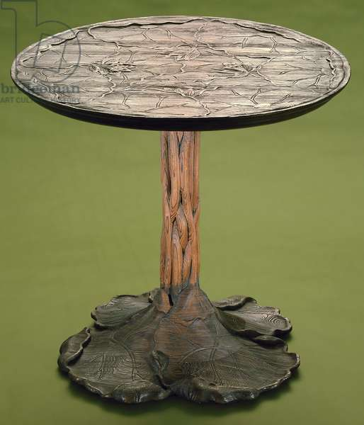 Lotus Table, c.1903-07 (cypress wood)