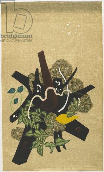 Late Autumn, 1960 (colour woodblock print)