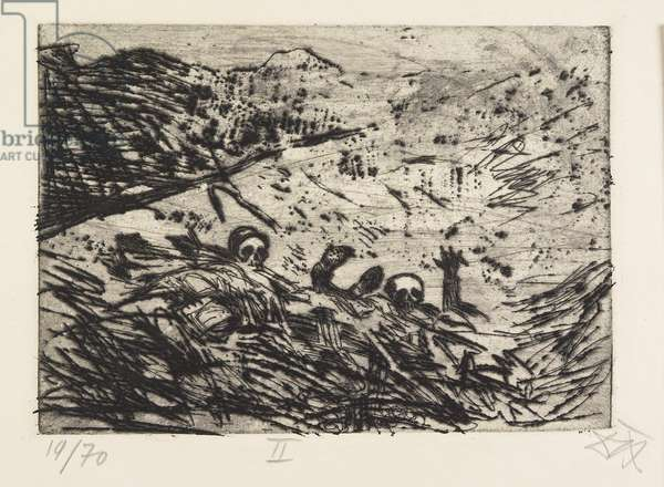 Verschüttete (Januar 1916, Champagne) (Buried Alive [January 1916, Champagne]), plate 2 from Der Krieg (The War), 1924