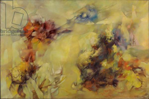 Tempest in Yellow, 1956 (oil on canvas)