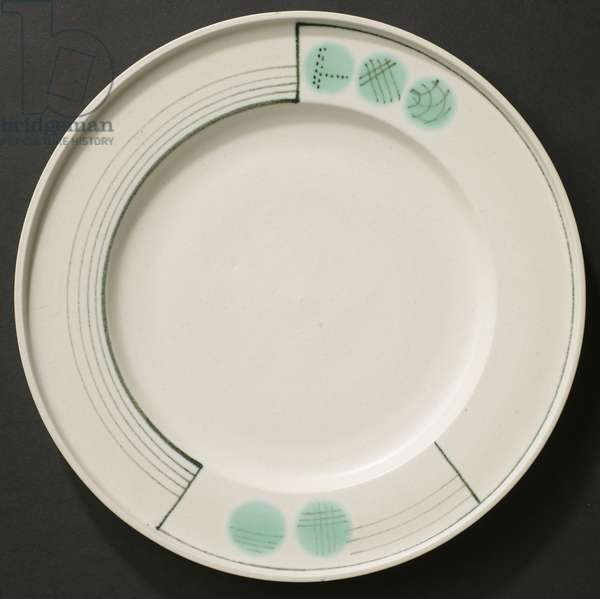 Dinner plate, c.1930 (ceramic)