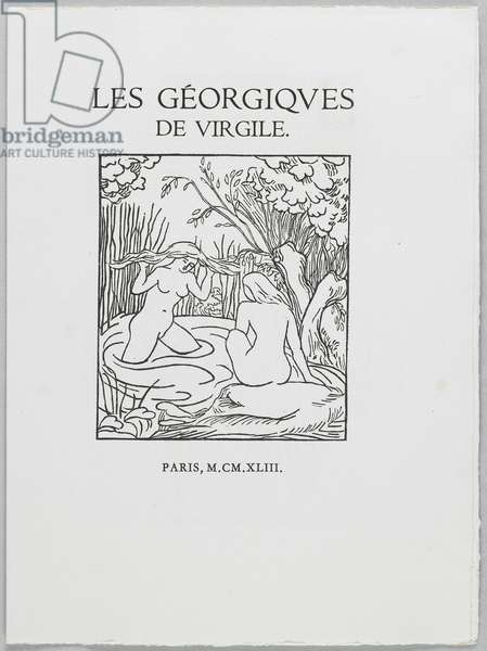 Titlepage of 'The Georgics' by Virgil, 1937-43 (woodcut & letterpress)