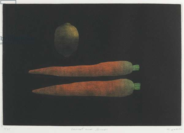 Carrot and Lemon, 1973 (colour mezzotint)