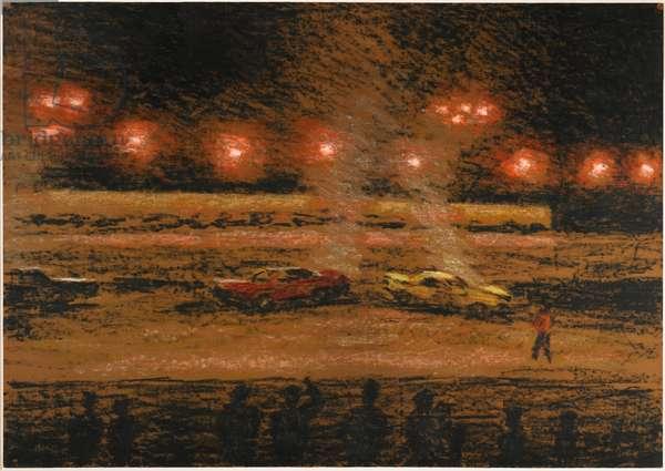 Orange Dust, 1987 (oilstick on paper)
