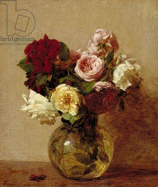 Roses, 1884 (oil on canvas)