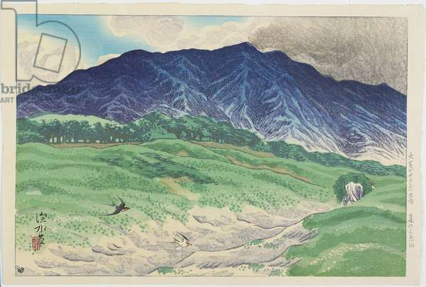Mount Mihara in Summer, 1938