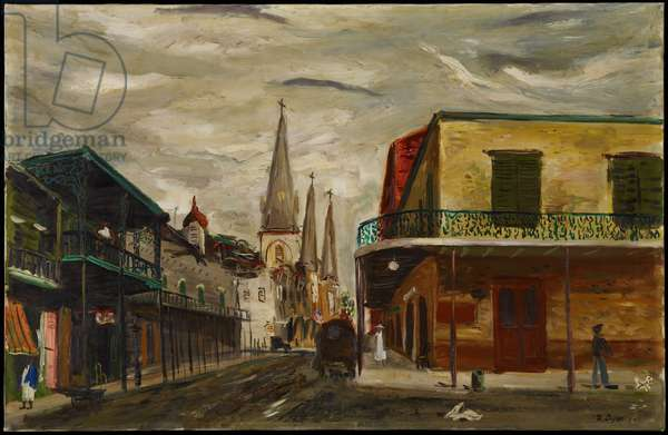 Corner of Chartres Street (oil on canvas)