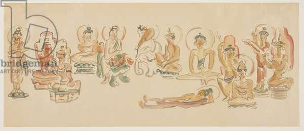 (Asakusa Kannon temple caricatures B), c. 1900