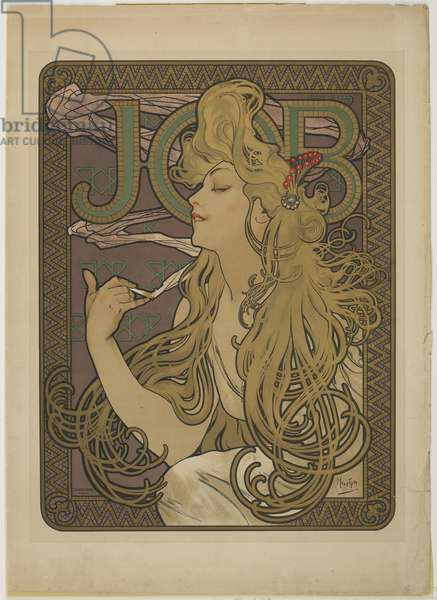 Job, 1896 (colour litho)