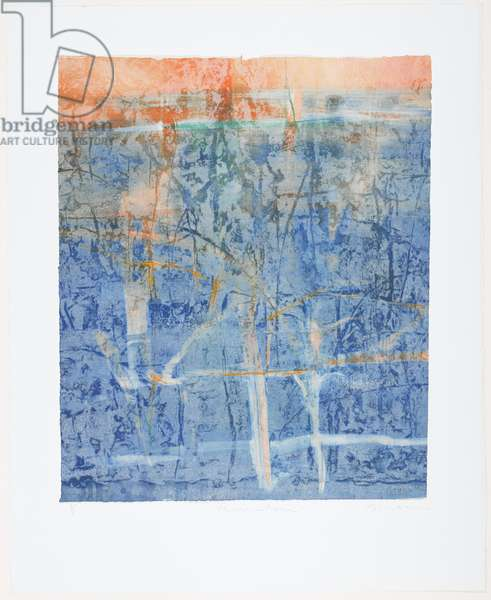 Provincetown, 1994 (monoprint with wood relief, pastel & paint on paper)