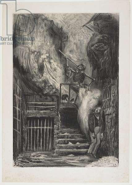 Street of the Old Lantern (Death of Gérard de Nerval), 1855