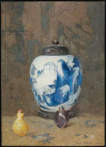 Still Life, Chinese Vase, 1922 (oil on panel)