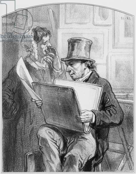 "Avant la lettre, Plate 10 from ""Les Toquades"", 1858"