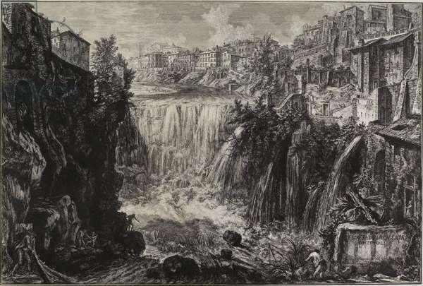 View of the Grand Cascade at Tivoli, 1766