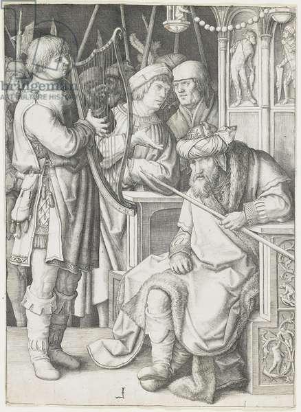 David Playing the Harp before Saul, c. 1508