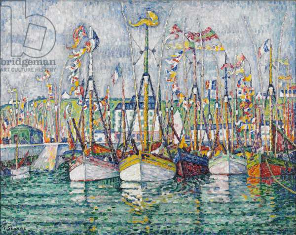 Blessing of the Tuna Fleet at Groix, 1923 (oil on canvas)